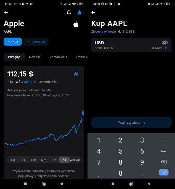 Kup akcje Apple w Revolut