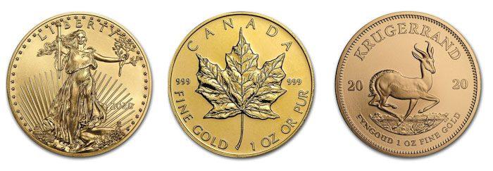 najpopularniejsze złote monety